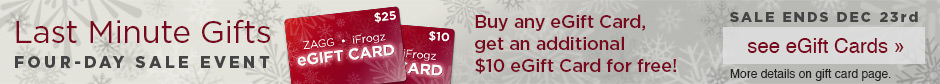 Buy any eGift Card, get an additonal $10 eGift Card for free!
