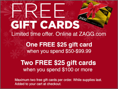 Free $25 Gift Card on orders of $50 or more