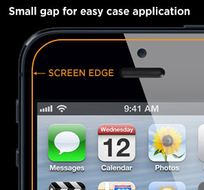 Small gap for easy case application