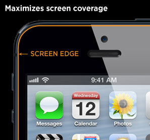 Maximizes screen coverage